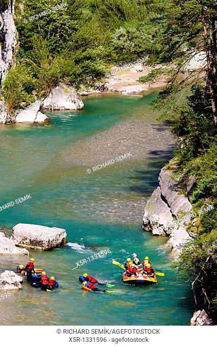 water sports, Verdon Gorge, Provence, France