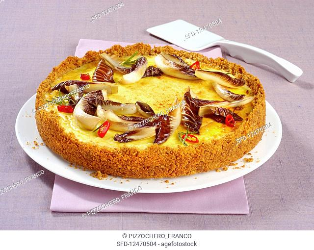 Cheesecake with robiola and radicchio