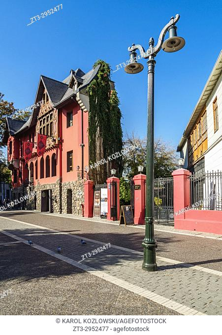 Plaza Camilo Mori, Bellavista Neighbourhood, Santiago, Chile