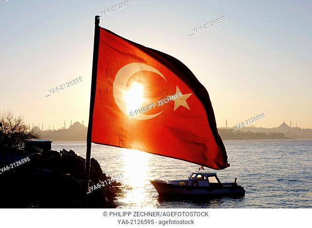 Turkish flag, Istanbul