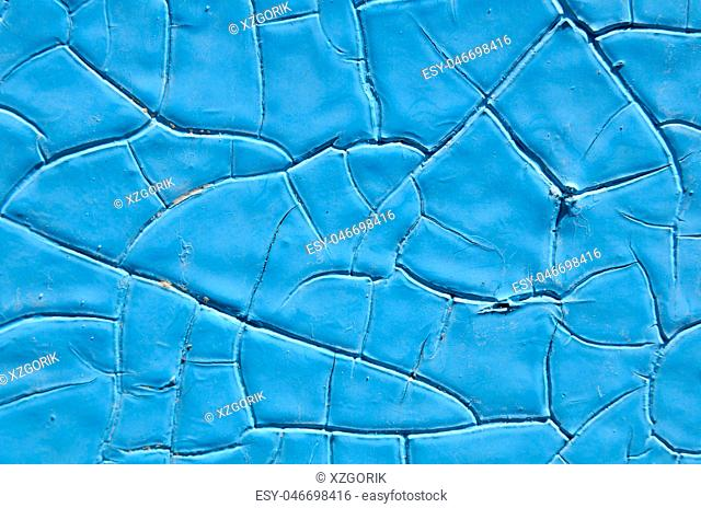 Beautiful blue background color, texture, old paint