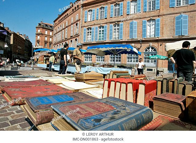 France, Languedoc, Toulouse, book market