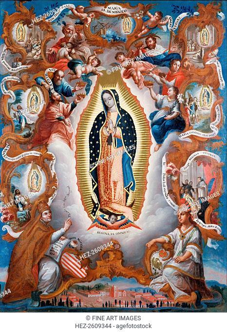 Our Lady of Guadalupe, 1779. Artist: Salcedo, Sebastián (active ca. 1779-1783)