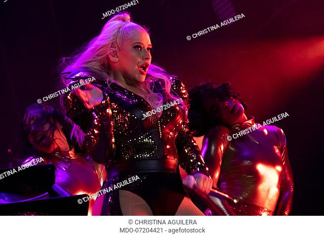 American singer Christina Aguilera during her The X Tour at the Moon and Stars Festival in Locarno. Locarno, July 15th, 2019