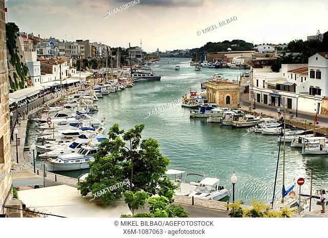 yachting harbour  Ciudadela, Minorca, Balearic Islands, Spain, Europe