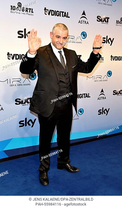Italian actor Fortunato Cerlino arrives for the 6th edition of the Mira Awards in Berlin, Germany, 29 January 2015. Cerlino was awarded for his series 'Gomorrah...