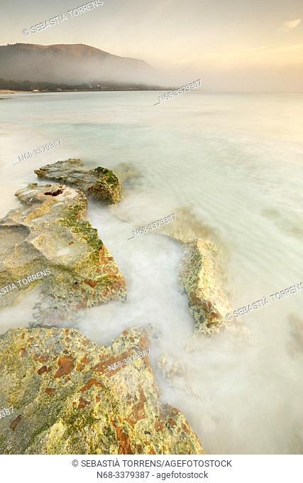 Rocks at Cala Agulla, Capdepera, Majorca, Spain