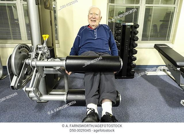 Asbury retirement home, Solomons, Maryland, USA, Elderly in the gym