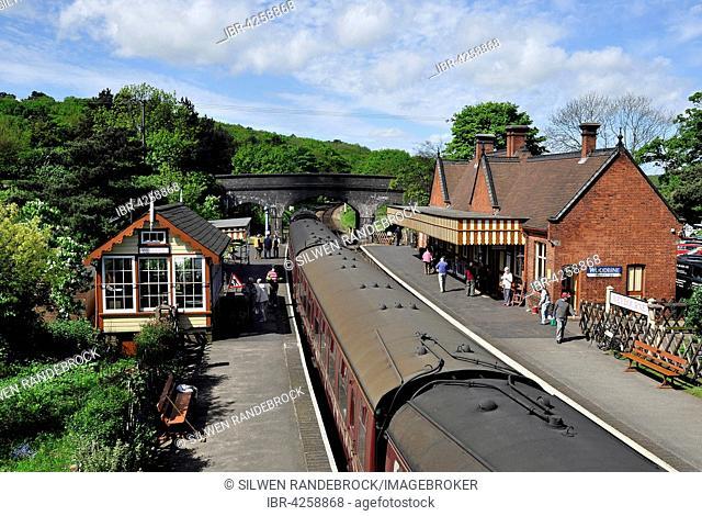 Train station of the historic steam train North Norfolk Railway Poppy Line, Sheringham, Norfolk, United Kingdom