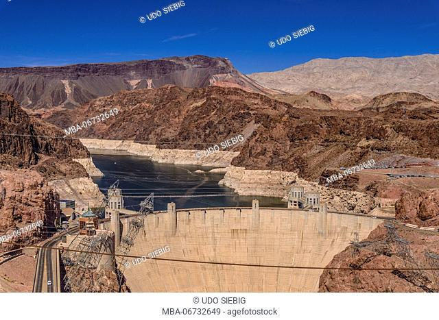 The USA, Nevada, Clark County, Boulder city, Lake Mead National Recreation Area, Hoover Dam