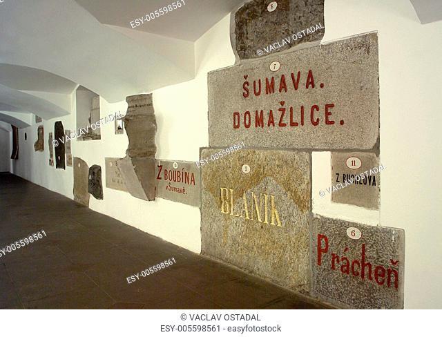 Headstones of National Theatre, Prague, CZE