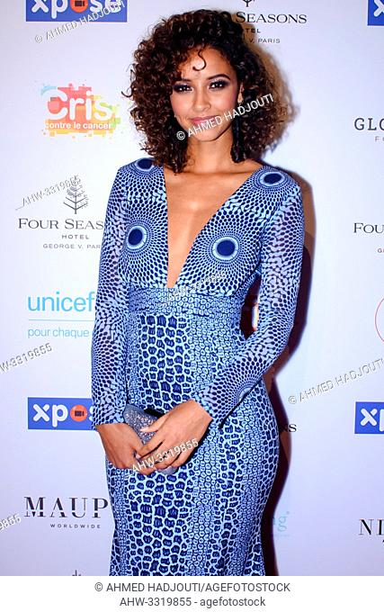 PARIS, FRANCE - JUNE 03: Flora Coquerel, Miss France, attends the Global Gift Gala 2019 at Four Seasons Hotel George V on June 03, 2019 in Paris, France