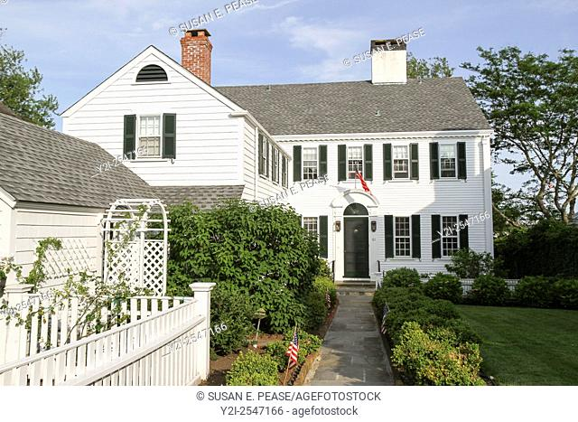 A home in Edgartown, Martha's Vineyard, Massachusetts, United States. Editorial use only