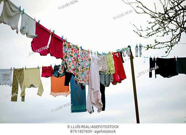 clothes hanging, lifestyle, home, nature, rural life, nature, outdoors