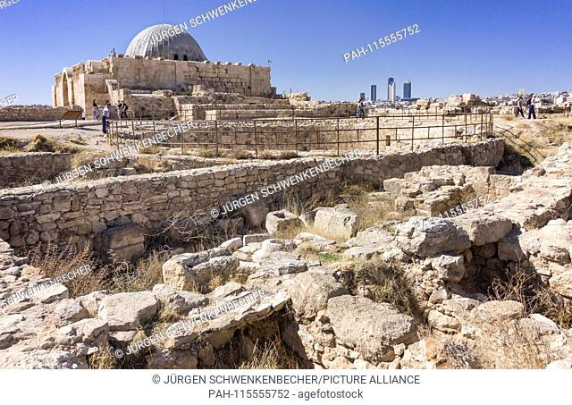 The Umayyad Palace is one of the most prominent buildings on Amman's citadel hill (Jebel al-Qalaa). It dates back to Roman times (Byzantine Empire)