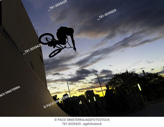 bmx in bike park, Valencia, Spain