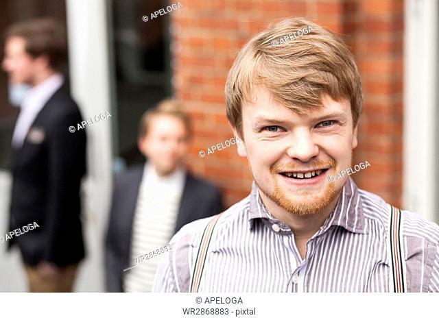 Portrait of handsome blond businessman