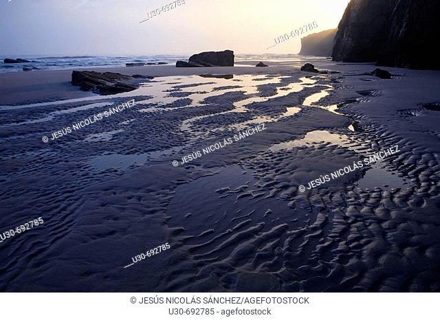 Las Catedrales beach. Ribadeo. Lugo province, Galicia, Spain