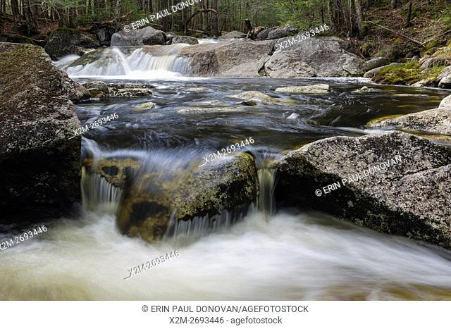 Harvard Brook in Lincoln, New Hampshire USA during the spring months