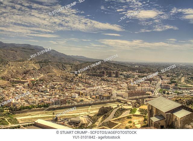 HDR image of the Spanish city of Lorca Murcia Spain