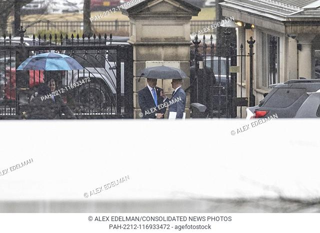 Governor Andrew Cuomo (Democrat of New ..York) arrives at the White House prior to a scheduled meeting with United States President Donald J