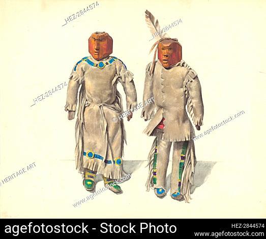Cree Indian Dolls, c. 1936. Creator: Jane Iverson