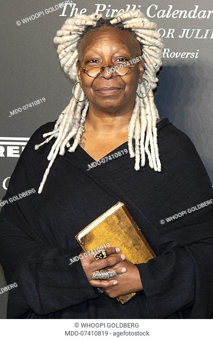 American actress Whoopi Goldberg during the presentation of the Pirelli 2020 Calendar at the Verona Philharmonic Theater