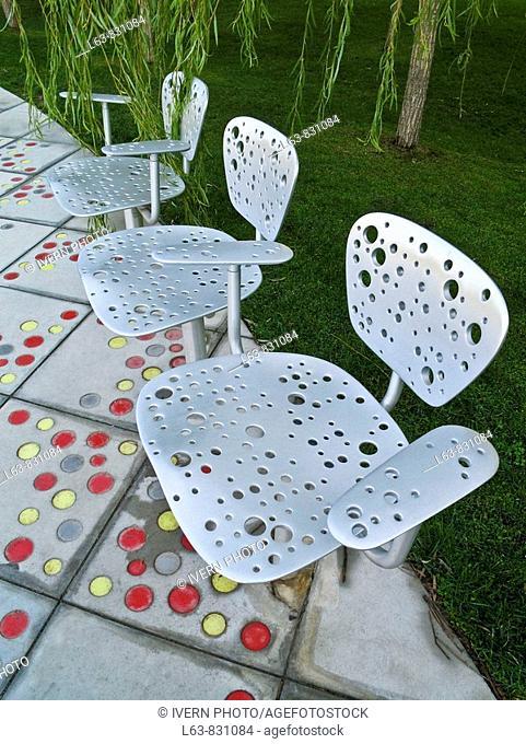 Riddle chair by Jean Nouvel Parc Central del Poblenou designed by Jean Nouvel Barcelona Catalonia Spain