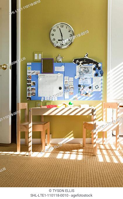 Play table in kids room