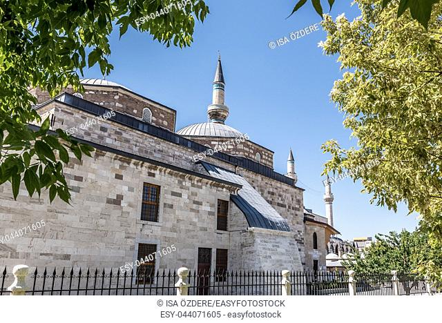 Exterior view of Mevlana museum in Konya,Turkey. 28 August 2017