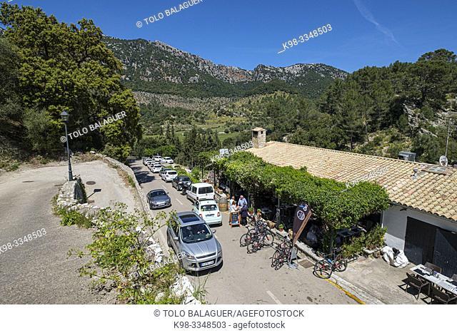 restaurante Can Tomeu, valle de Orient, sierra de Tramuntana, Mallorca, Balearic Islands, Spain