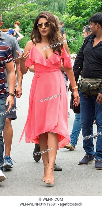 Priyanka Chopra on the film set of 'Isn't It Romantic' in New York City Featuring: Priyanka Chopra Where: New York, New York