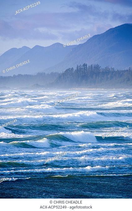 Wickaninnish Beach in Pacific Rim National Park near Tofino, BC, Canada on Vancouver Island
