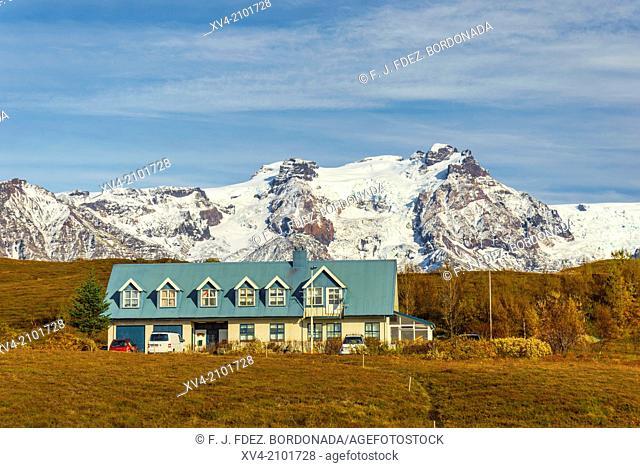 Skaftafel small village. Iceland
