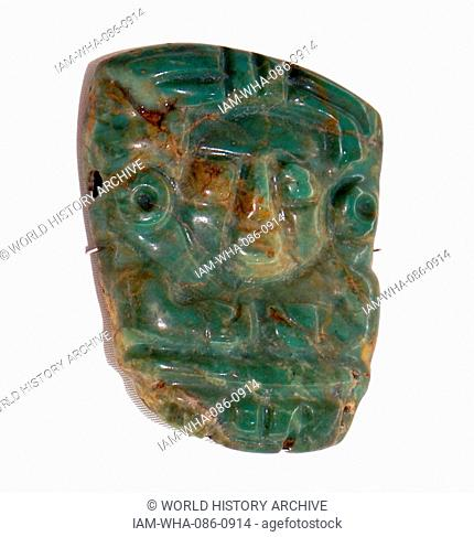 Low relief pendant made from Jade. Dated 10th Century