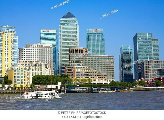 Canary Wharf Financial district in London  June 2009