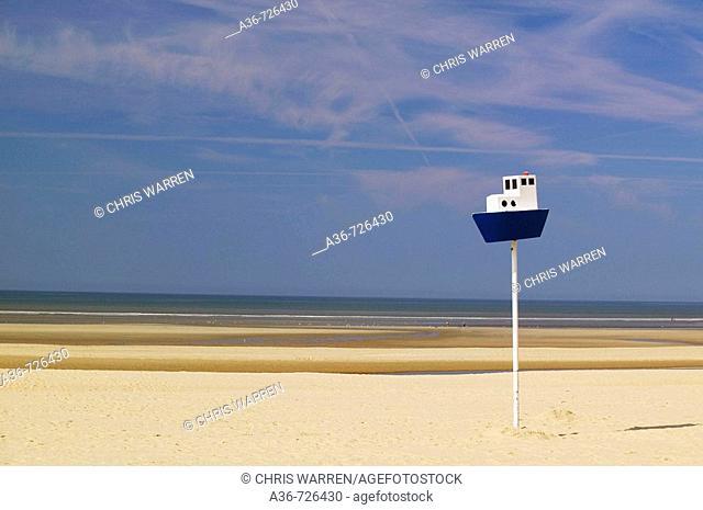 Beach Le Touquet Paris-Plage Pas de Calais Nord-pas-de-Calais France