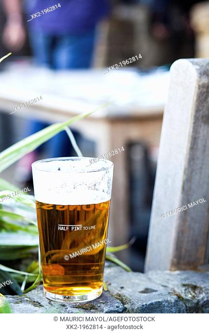Half pint of beer, London, UK