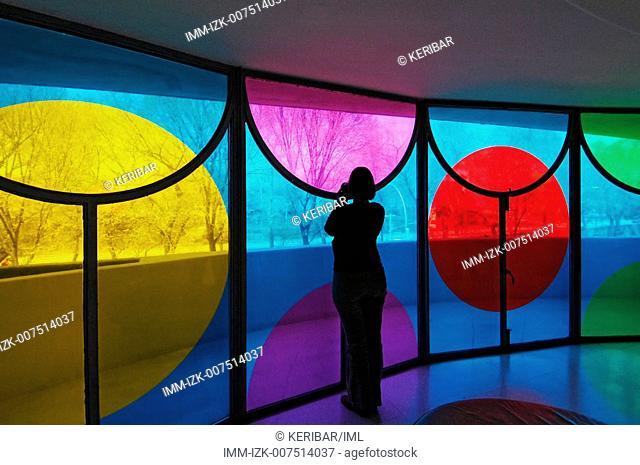 Daniel Buren at Guggenheim Museum , New York City, United States, America