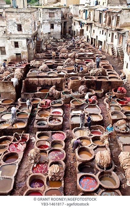 The Chouwara Chouara Tannery, The Medina, Fez, Morocco