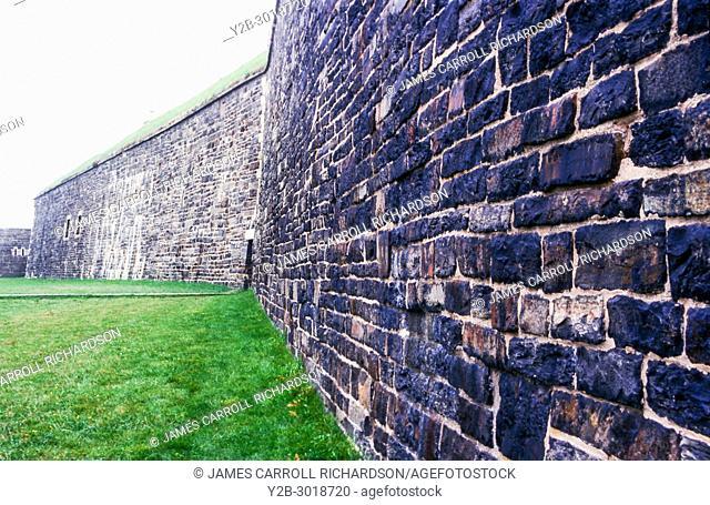 Rock walls of citadel in halifax nova scotia canada