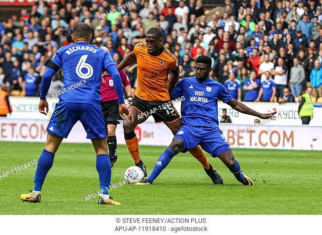 2017 EFL Championship Football Wolves v Cardiff City Aug 19th. 19th August 2017, Molineux, Wolverhampton, England; EFL Championship league football