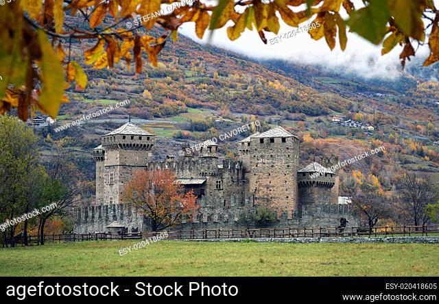 Fenis castle near Aosta (Italy)
