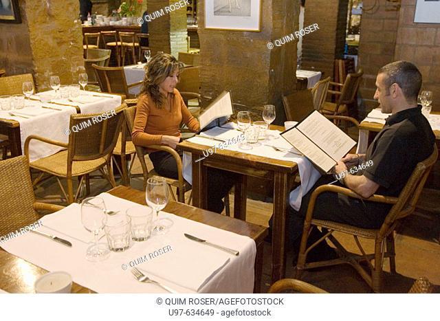 Restaurant Cafè de l'Acadèmia, Plaça Sant Just, Barcelona, Spain