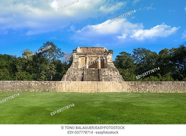 Chichen Itza north temple in Mexico Yucatan