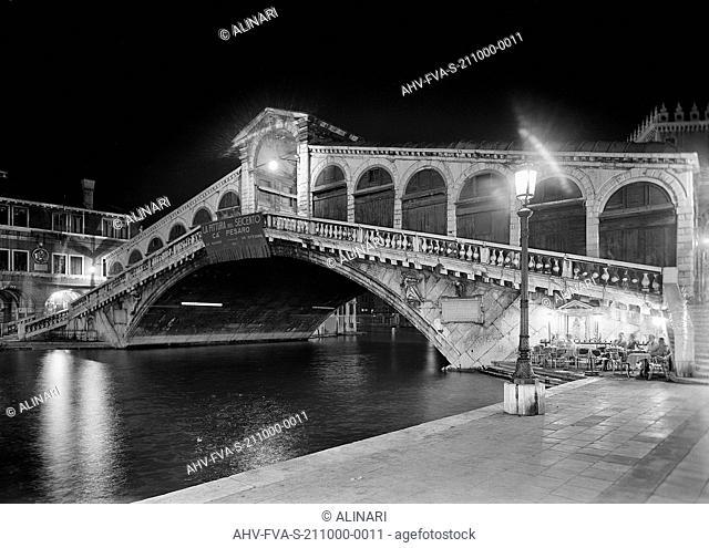 Rialto Bridge, Venice (1588 - 1591), shot 1959 by Fotografia Ferruzzi