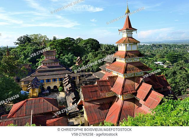 Myanmar, Mon State, Mawlamyine (Moulmein), Monastery of Kyaung Seindon Mibaya