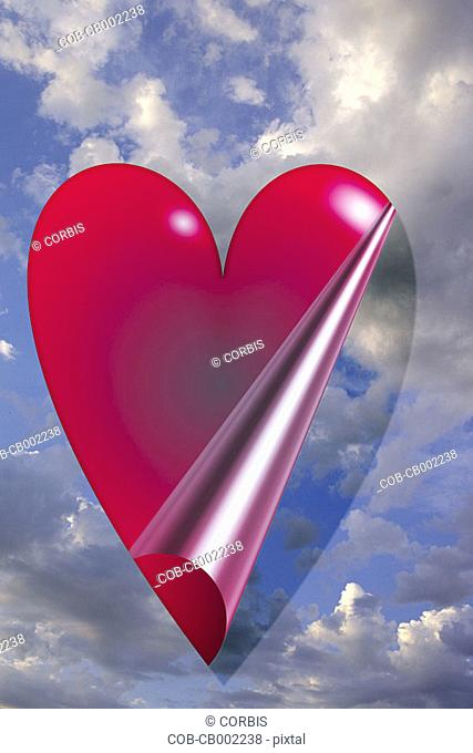 Peel-Away Valentine Heart in the Sky