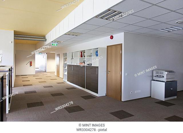 Spacious Office Hallway