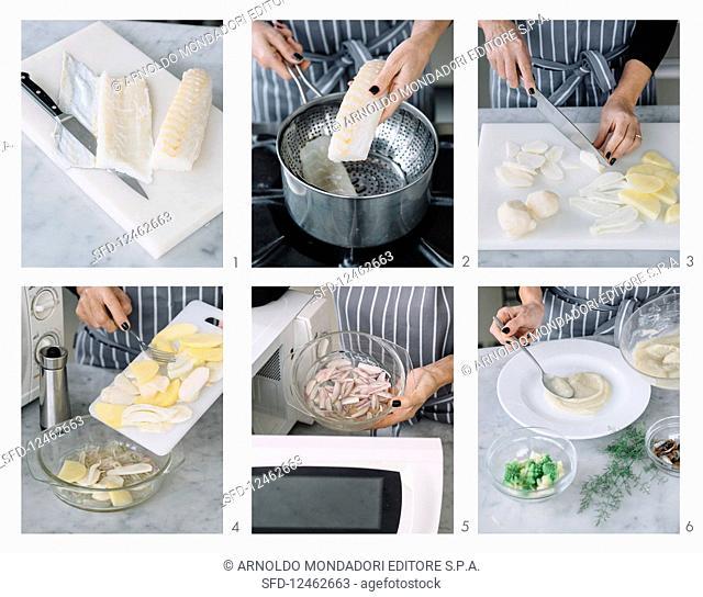 Preparing Salt Cod with Jerusalem Artichoke